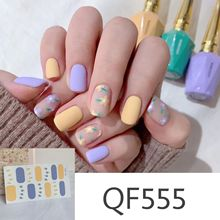 Lamemoria14tips Nail Stickers New Product Full Coverage 3D Summer Complete Nail Decals Waterproof Self-adhesive DIY Manicure