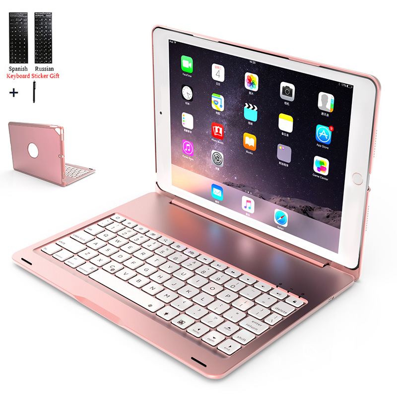 Backlight Wireless Bluetooth Keyboard Case Cover For iPad 10.2 inch 2019 Tablet Aluminum Alloy Stand Fundas+Stylus|Tablets & e-Books Case| |  - title=