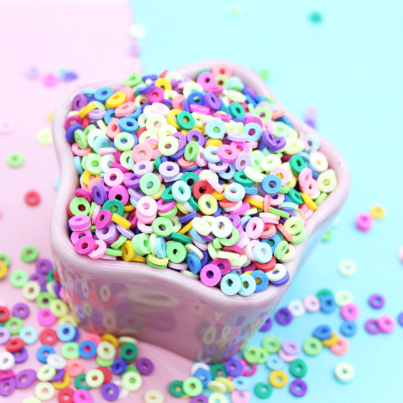 20g/pack DIY Hollow Slime Slices Addition Charms Fluffy Slime Supplies Polymer Clear Soft Clay Sprinkles Toys For Childrens Gift