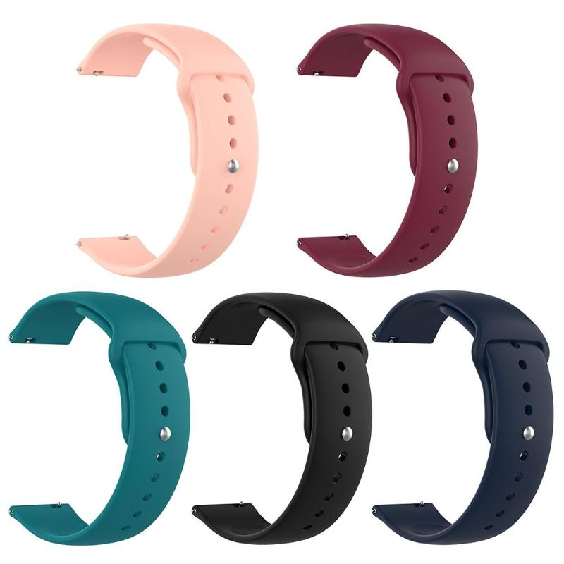 20mm Silicone Watch Band Replacement for Samsung Galaxy Watch Active 2 Strap Smart Wristband Bracelet Strap for Watch Active 2