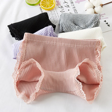 100% Cotton 2020 New Girls Lace Shorts Top Quality Pink Girl Safety Pants Underwear Shorts Cute Briefs For Kids 3 13 Years Old