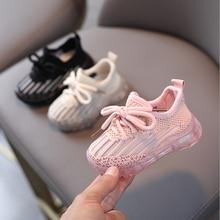 AOGT 2021 детская весенняя обувь для женщин для девочек и мальчиков мягкие удобные детские спортивная обувь Вязание дышащая обувь на нескользя...
