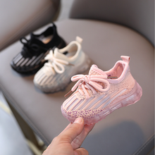 Aogt 2021 primavera sapatos de bebê para o menino da menina macio e confortável infantil esporte sapatos de tricô respirável antiderrapante criança tênis