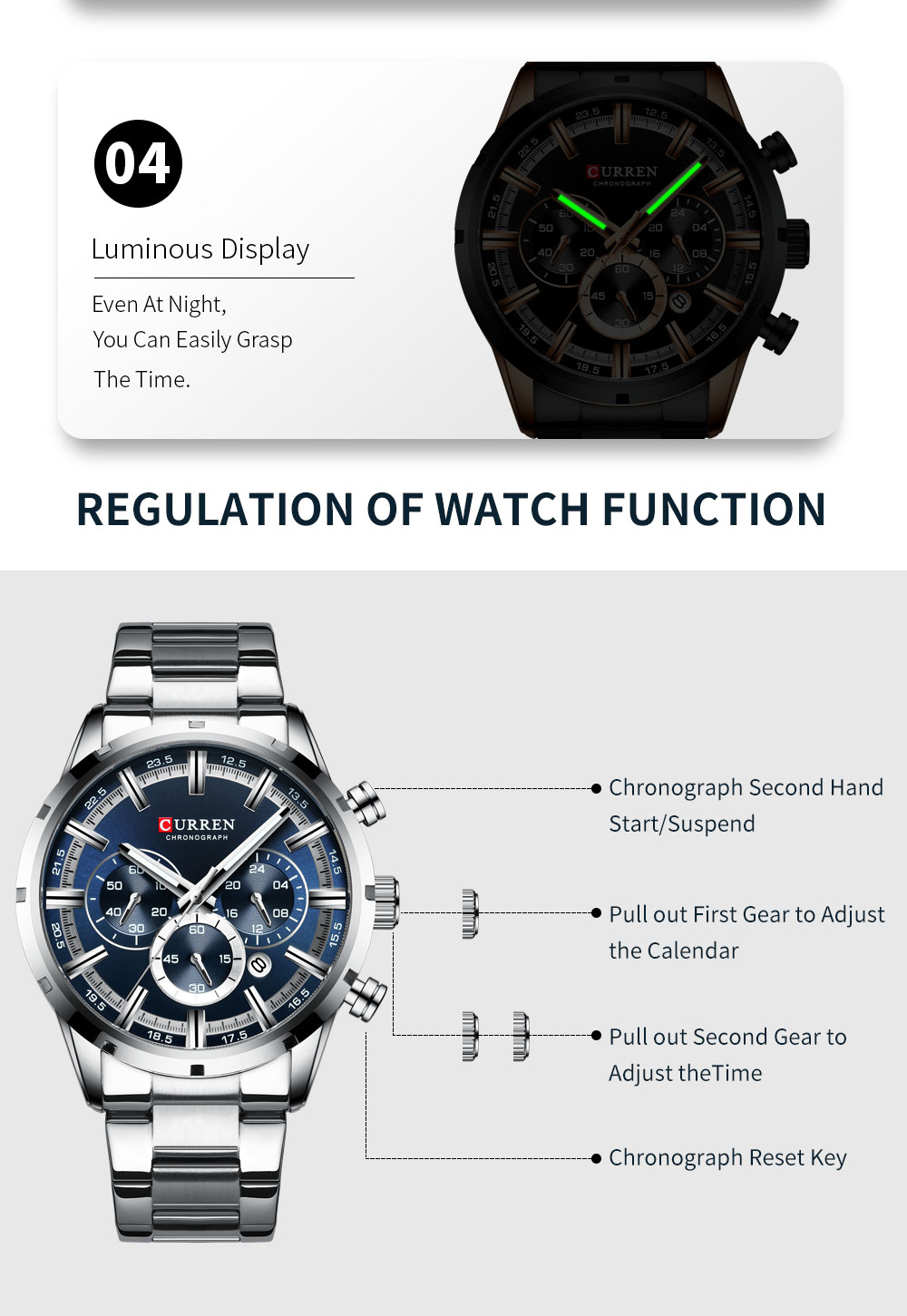 Hc540a07bb1104bbda886c929247c829db CURREN Top Brand Military Quartz Watches Silver Clock Mens Quartz Stainless Steel Chronograph Watch for Men Casual Sporty Watch