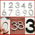1 шт./2 шт. 6 см дверной номер знак на дом покрытие ворота из цифр от 0 до 9 Стикеры пластина знак ABS Пластик номер замок двери адрес стикер с цифр...