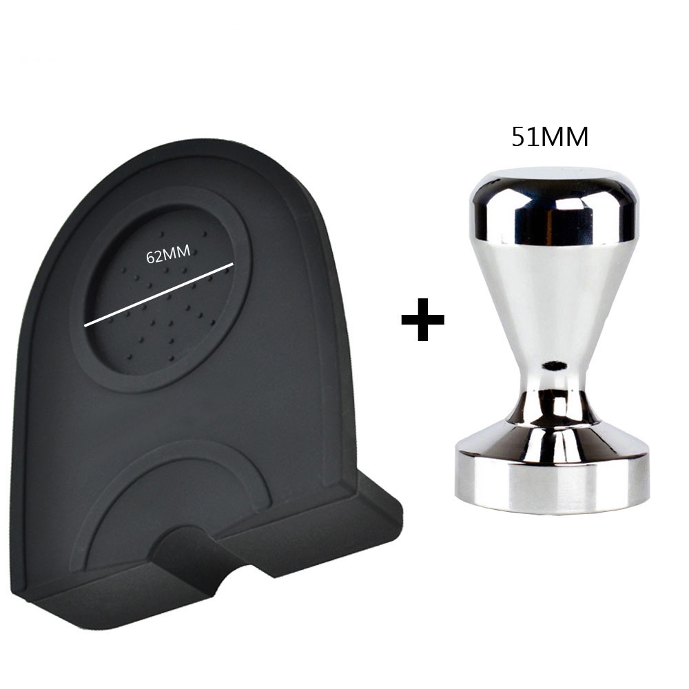 Espresso 51MM Coffee Tamper Mat High Quality Silicone Rubber Tampering Corner Mat Coffee Maker