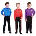 Одеваются Wiggles мальчиков танцевальный наряд костюм балетный костюм 2 шт. 1 комплект подходит 3-9years Simon костюм