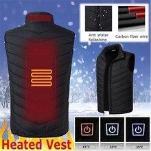 Heating Vest Men's Winter Body Heating Clothes Warm Usb Stand Collar Charging Smart Men's Electric Vest