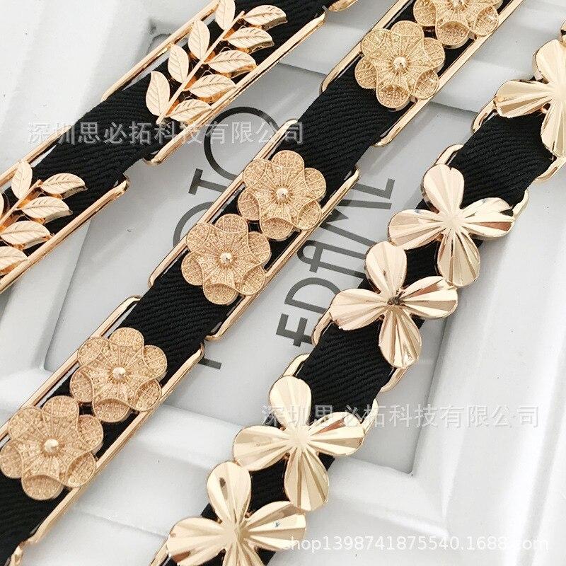 Korean-style Fashion Metallic Belt Female Fine Decoration Versatile With Skirt Chain Belt Elasticity Elastic Dress Accessories L