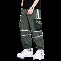 Новинка 2021, мужские брюки на молнии с украшением, сращивающиеся шаровары, джоггеры, брюки, мужские брюки, однотонные спортивные брюки, Пряма...