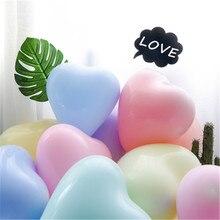 10PCS 10 inch 2.2 g macaron heart-shaped love latex balloon wedding proposal Valentines Day party fantasy decorative balloons