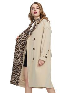 MIEGOFCE 2020 Весеннее Новая Куртка Женская Ветровка Свободная Мода Повседневная Ветровка Высокого Качества Имеет Пояс Плащ на Пуговицах