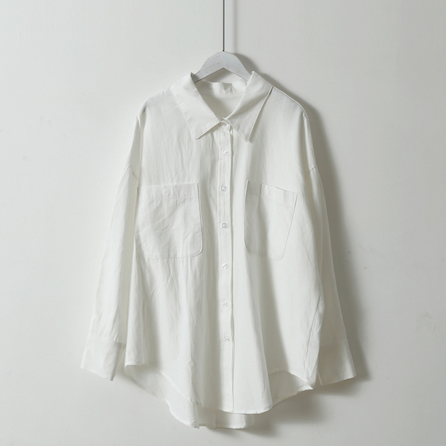 Mozuleva Basic White Shirts for Women 2