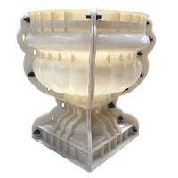 Top Sale ABS plastic planters for succulents Concrete Flower Pot Mold For Home Decor Flower Vase Mould ceramic plant pots