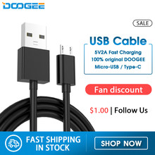 Doogee Cable USB estándar carga rápida USB tipo C Cable de datos carga Micro USB Cable de teléfono móvil USB Cable N20 S68 S40 S95(China)