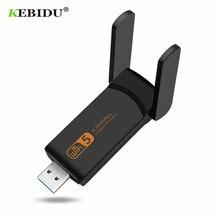 KEBIDU 1900Mbps USB 3.0 واي فاي محول 2.4GHz 5.0GHz بطاقة الشبكة اللاسلكية الخارجية ثنائي النطاق جهاز استقبال واي فاي محول 300Mbps