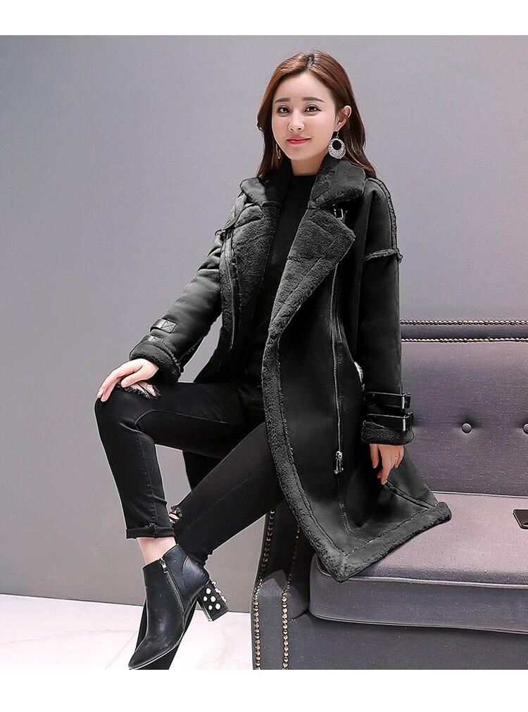 forrado camurça jaqueta mulher casaco grande senhoras blusão