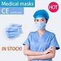 Одноразовые Медицинские Хирургические маски против загрязнения 3 слоя защитные маски антивирусные Висячие дышащие маски для здоровья