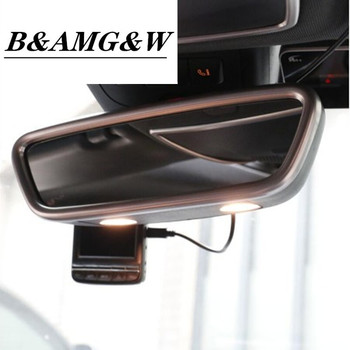 For Mercedes Benz GLA CLA A class B class Car Styling Inner Rearview Rear View Mirror Sticker Trim Cover Accessories Two Options chrome car styling cd panel switch button cover sticker trim for mercedes benz cla gla x156 a200 b200 class interior accessories