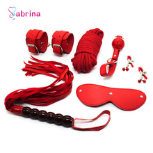 Women Sexy BDSM Sex Bondage Restraint Kit for Couples Games Mask Mouth Gag Handcuffs Adult Sex Toy Fetish Erotic Accessories Set цены