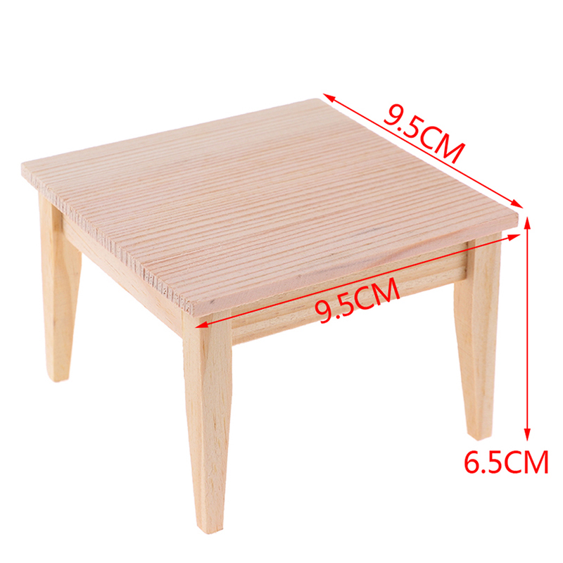 Simulation Mini Dining Table Furniture Model Toys For Doll House Decoration 1/12 Dollhouse Miniature Accessories