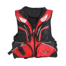 Спасательный жилет для взрослых, съемный плавающий жилет, многофункциональный утолщенный рыболовный костюм, спасательный жилет для рыбалки