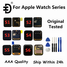 الأصلي ل أبل سلسلة ساعة 4/5 40 مللي متر 44 مللي متر LCD عرض تعمل باللمس محول الأرقام ل أبل سلسلة ساعة 1/2/3 38mm42mmLCD شاشة