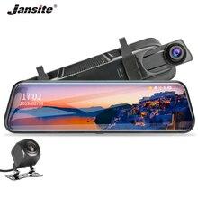Jansite 10 Mirror DVR Dash Cam FHD 1080P Streaming Rear View Car Cameras Cycle Recording Night Vision + 1080p Backup camera
