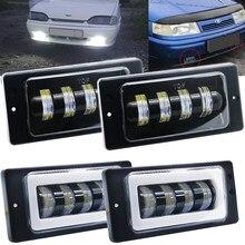 2pc pour Vaz 2114 van LED feux de route DRL blanc ambre ange yeux antibrouillard pour Lada 2110 -2117, pour Kamaz, pour Niva Chevrolet