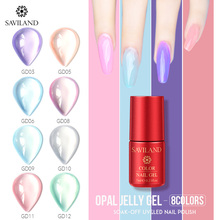 SAVILAND Opal Jelly Gel 7 Ml Hard Jelly Gel Polish In Nail Gel Semi-Transparent UV Soak Off Manicure UV & LED Nail Varnish