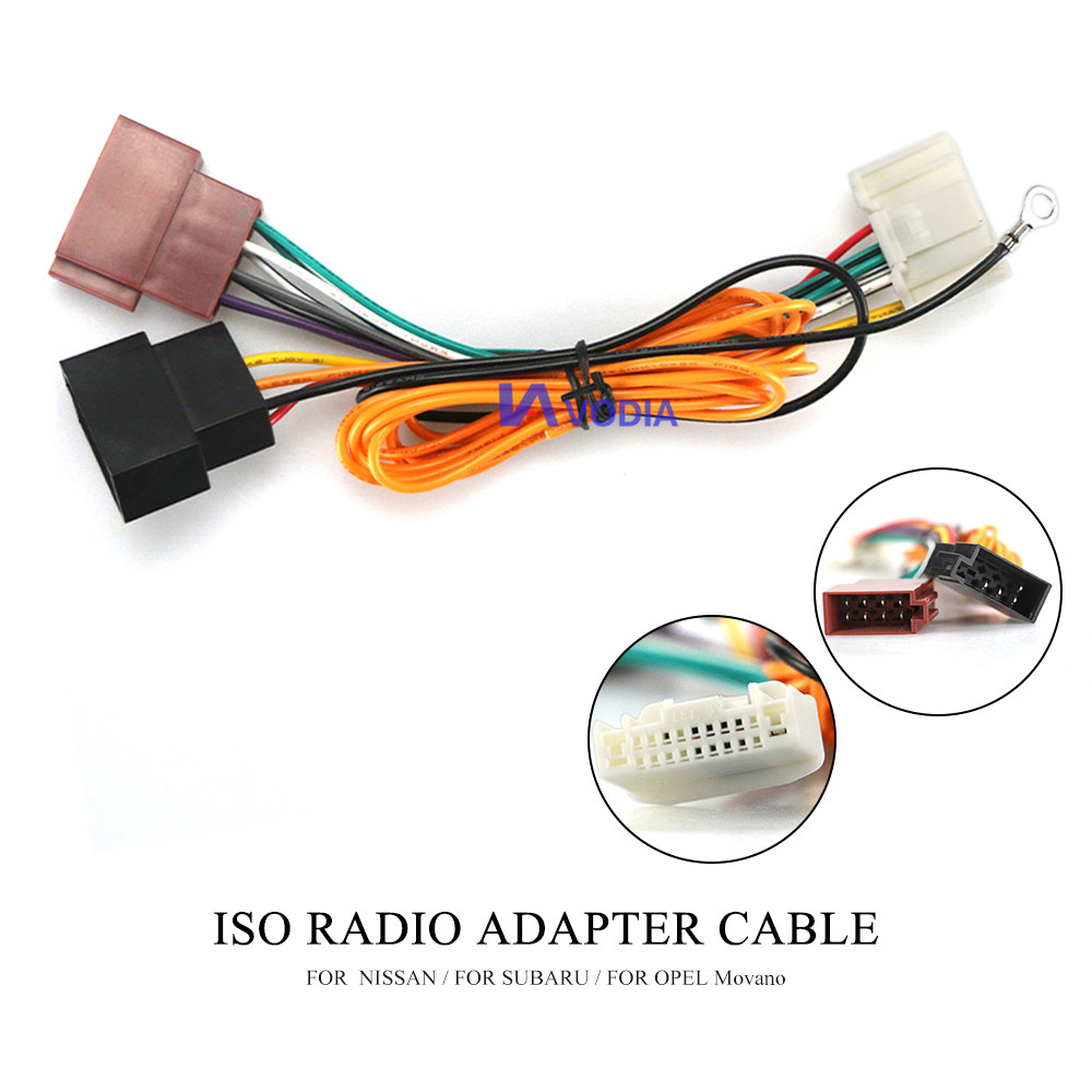12-136 ISO Radio Adapter for NISSAN for SUBARU for OPEL Movano Wiring Harness Connector Lead Loom Cable Plug(China)