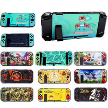 for NS Nintend Switch Protector Console Cover Plate Case Shell Set Dockable Direct Dock Joy con Xenoblade 2/Zeldar/Splatoon 2