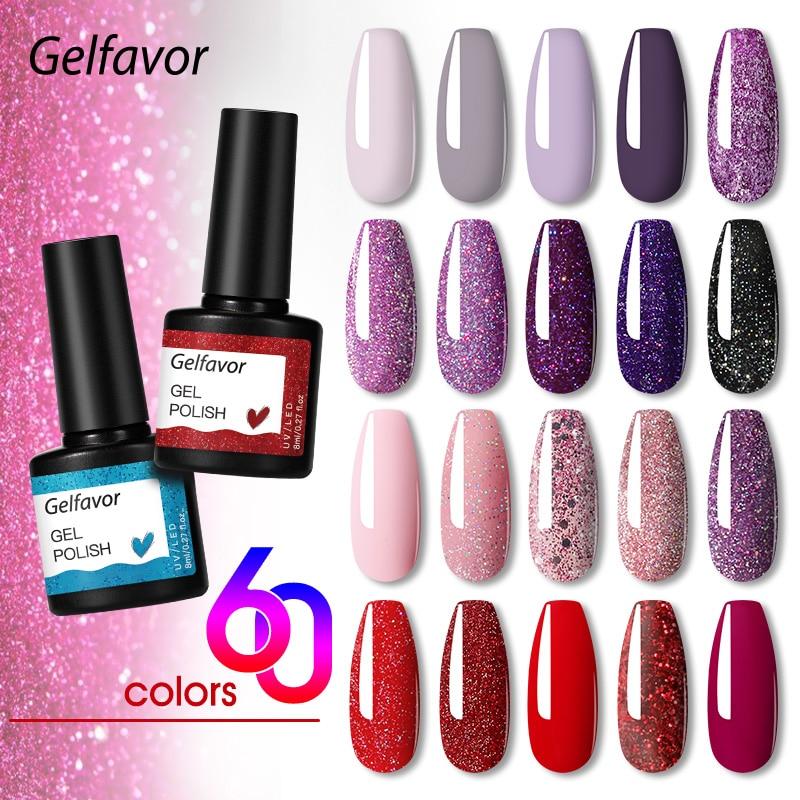 Гель-лак для ногтей Gelfavor, 8 мл, гибридный УФ-Гель-лак, все для маникюра, для дизайна ногтей, полупостоянная основа, верхний слой, лак