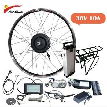 Kit de conversión de bicicleta eléctrica rueda de Motor trasero, 36v, 250/350/500w,...