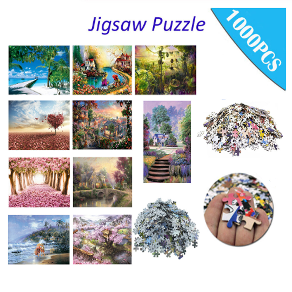 Jigsaw Picture Puzzles 1000 Pieces Paper Assembling Puzzles Toys For Adults Children Kids Games Educational Toys Birthday Gifts