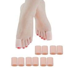 2 шт силиконовый напальчник для пальцев ног гель носок Кепки