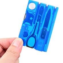 10 In1 Pocket Credit Card EDC Multi Tools Outdoor Survival Camping Equipment 1 Box Portable Hiking Card Tools(China)