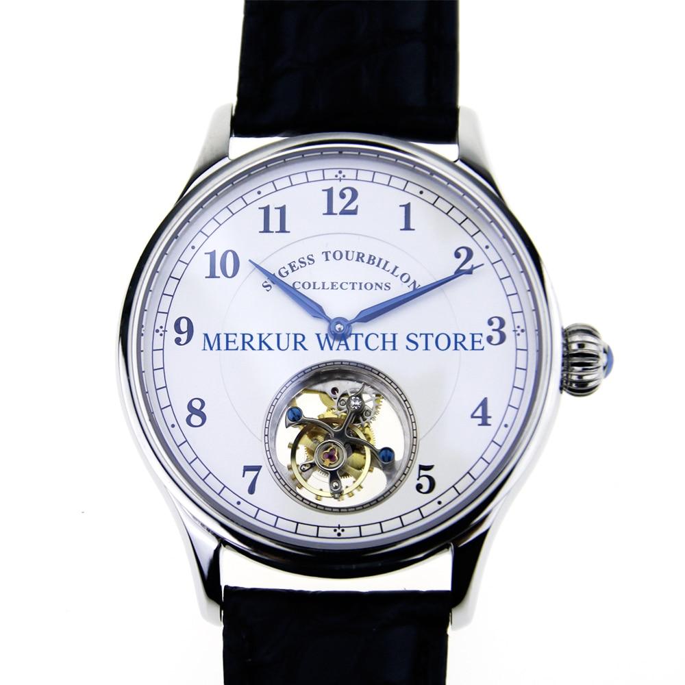 Sugess Mens Watch Flying Mechanical Seagull ST8000 Tourbillon Movement Skelenton Luxury   Dress