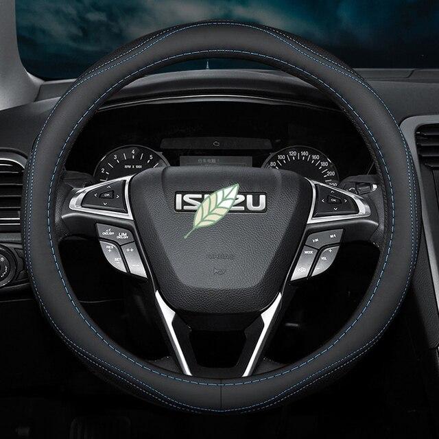 Ensemble de couverture de volant de voiture pour ISUZU MUX Trooper DMax Panther respirant accessoires de style de voiture