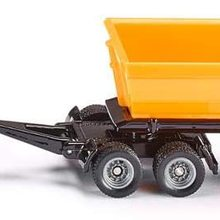 Traktor mit Dolly und Kippmulde, Metall/Kunststoff, Gelb, Abnehmbarer Muldenkipper