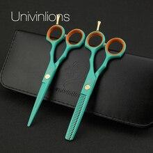 Ensemble de ciseaux à cheveux professionnels japonais, 5.5 pouces, tesoura, outil de coupe, salon de coiffure, en acier inoxydable
