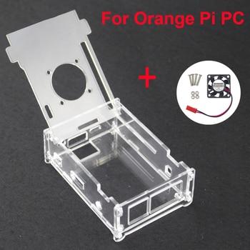 For Orange Pi PC Acrylic Transparent Case Box Orange Pi Plus Clear Enclosure Cover Shell + Cooling Fan for Orang Pi PC/PC Plus фото