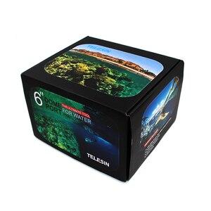 Image 5 - TELESIN Aksesuarları 3 Model su geçirmez muhafaza için Dome Portu Gopro Oturumu Gopro Hero Için 7 6 5 için DJI kamera yatağı