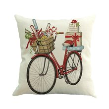 Let It Snow Xmas Style Cushion Cover Merry Christmas! Santa Claus Socks Balloon Home Decorative Pillows Cover Nordic венок let it snow