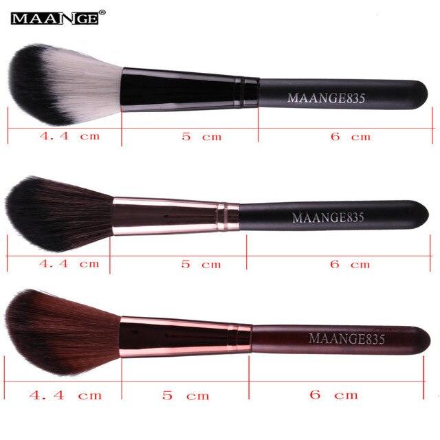 MAANGE 1Pcs Round Angled Top Makeup Brush Power Foundation Blush Concealer Contour Blending Highlight Cheek Brush Beauty Tool 5