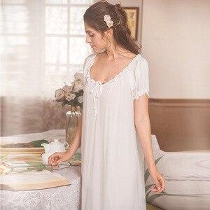 Image 3 - روسهارت نساء موضة أنثى أبيض مثير ملابس خاصة فستان سهرة مقوس دانتيل Homewear ملابس نوم ثوب نوم ثوب فاخر ملابس منزلية
