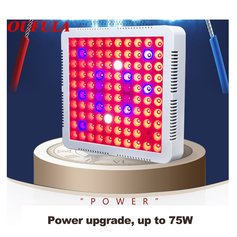 OUFULA 300W Light Efficient Led Plant Growth Light Red  Blue Ratio Full Spectrum Plant Light