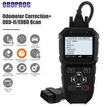 OBDPROG-herramienta de diagnóstico para coche, corrección de kilometraje, ajuste de odómetro, OBD2, escáner profesional, odómetro, ajuste de kilometraje