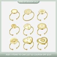 ENFASHION sol anillos para las mujeres de Color oro geométrico Acero inoxidable estrella anillo de dedo joyería de moda Dropshipping. Exclusivo. R194029