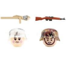 Militares ww2 exército outono soldados figuras blocos de construção neve soldado infantaria armas peças mini tijolos brinquedo para crianças